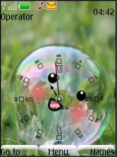 Buble Clock Theme Mobile Theme