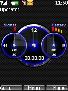 Carbon Clock Tone Mobile Theme