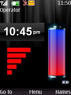 Clock Wit Tone Nokia S40 Themes Mobile Theme