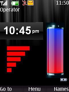 Clock Wit Tone Nokia S40 Themes Mobile Theme
