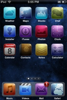 Space Iphone Theme Mobile Theme
