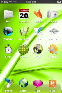 Crystal Vista Apple Iphone  Mobile Theme