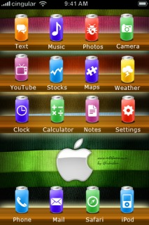Soda Apple IPhone Theme Mobile Theme