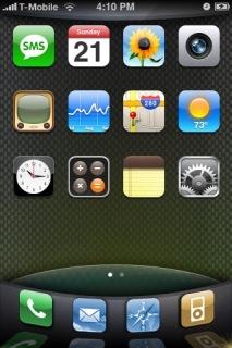 Carbon Fiber Apple IPhone Theme Mobile Theme