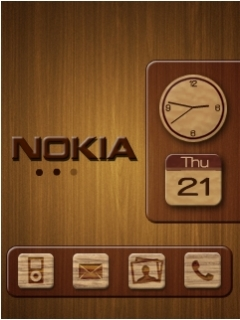Nokia Metalic Clock Mobile Theme
