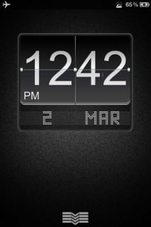 Ls Black Big Flip Clock For IPhone Theme Mobile Theme