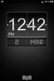 Ls Black Big Flip Clock For IPhone Theme Mobile Theme