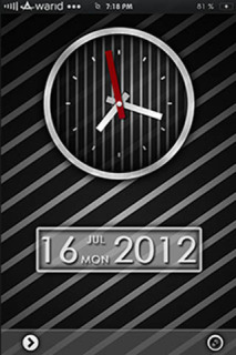 Striped Clock Black IPhone Theme Mobile Theme