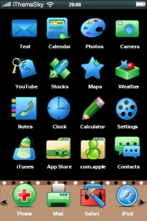 Simple Blue ICons Free IPhone Theme Mobile Theme