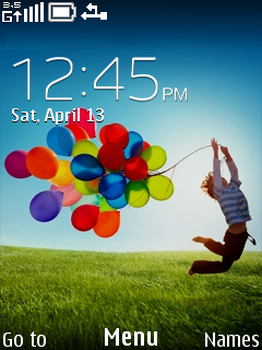Happy Life Clock Mobile Theme