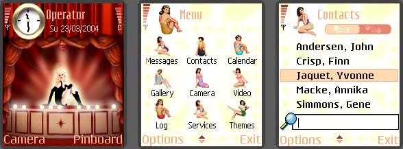 Girls Every Where Mobile Theme