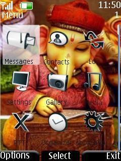 Cute Lord Ganesh Mobile Theme