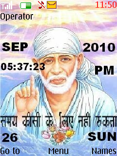 Sai Baba 2 Mobile Theme
