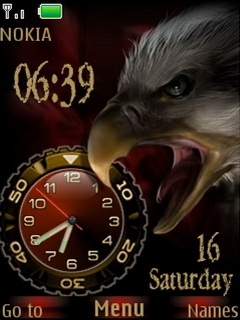Metal Dual Clock Mobile Theme