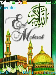 Allahu Akber Eid Mubarak Mobile Theme