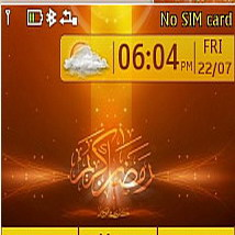 Red Ramadan Clock Mobile Theme