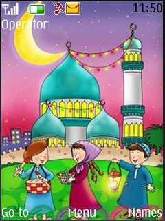 Happy Ramadan Cute S40 Theme Mobile Theme