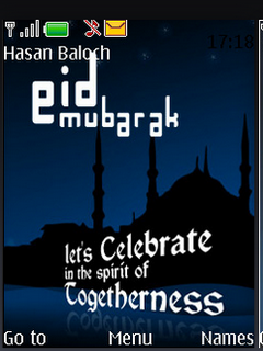 Eid Mubarak Celebrate Clock S40 Theme Mobile Theme
