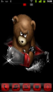 Horror Teddy Killer Android Theme Mobile Theme