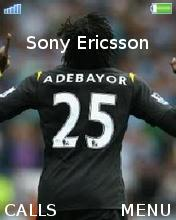 Adebayor Man City Mobile Theme