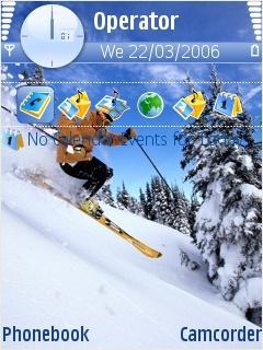 Skiing Mobile Theme