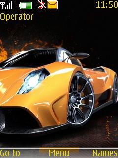 Fast Yellow Car Mobile Theme