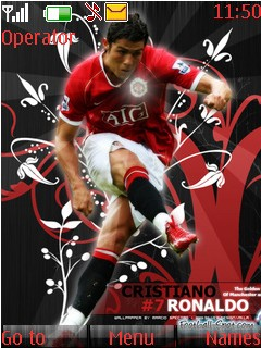 C Ronaldo Mobile Theme