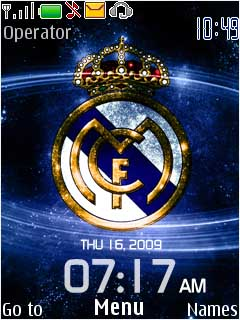 Los Galacticos Clock Mobile Theme