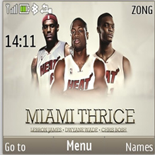 Miami Heat Mobile Theme