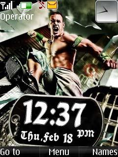 Cena With Clock Mobile Theme