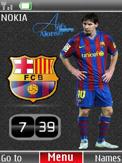 Messi Clock Mobile Theme
