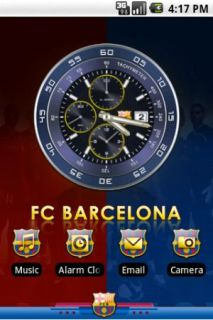 Barcelona Clock For Android Theme Mobile Theme