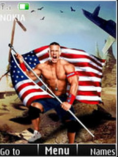 John Cena With Flag S40 Theme Mobile Theme