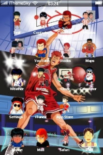 Slam Dunk Sports IPhone Theme Mobile Theme