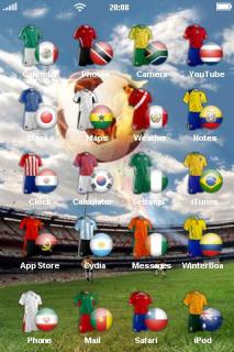 Football Ground IPhone Theme Mobile Theme