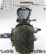 Bike With Big Tyre Mobile Theme