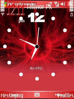 Red Clock Mobile Theme