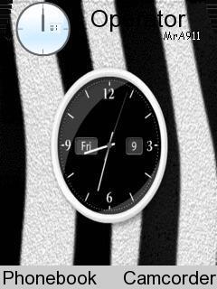 Zebra Clock Mobile Theme