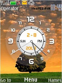 Sunset Clock Mobile Theme