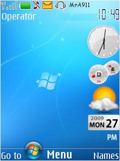 Win7 Blue Mobile Theme
