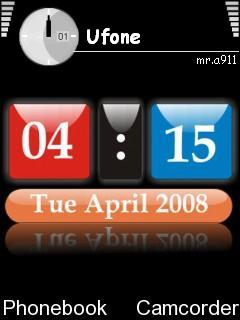 Digital Clock Mobile Theme