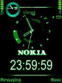 Green Black Mobile Theme