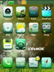 Iphone Green  Mobile Theme