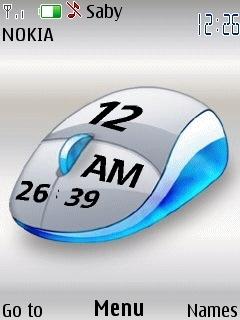 Mouse Clock Mobile Theme