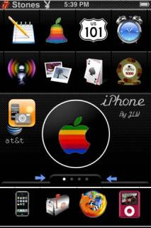 Colorful IPhone Theme Mobile Theme
