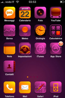 Cool Purple Mobile Theme