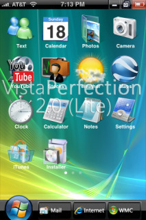 Vista Perfection 2Lite Iphone Theme Mobile Theme