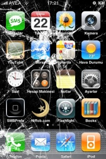 Broken Iphone Theme Mobile Theme