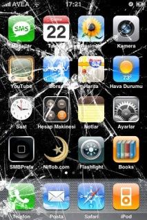 Broken Iphone Theme Mobile Theme