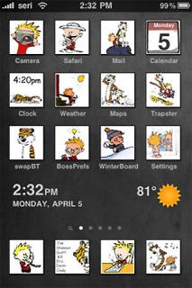 Calvin Hobbes IPhone Theme Mobile Theme